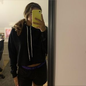 wild fable Tops - Black Cropped Hoodie